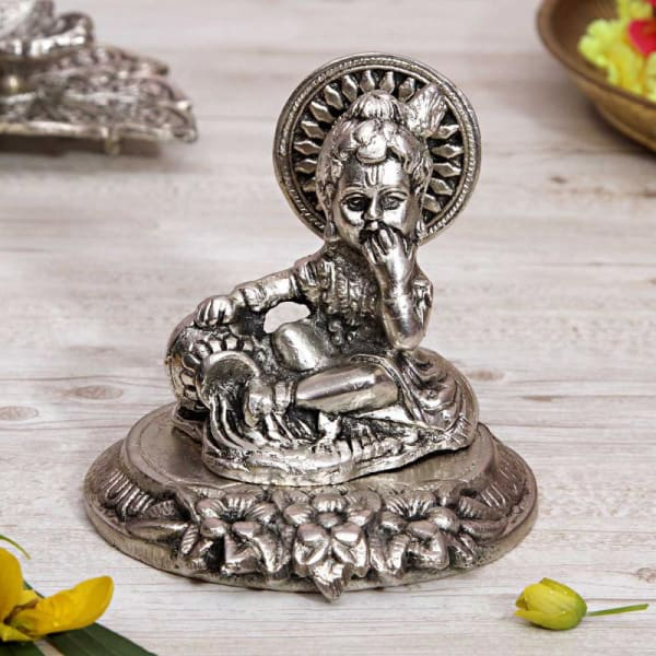 White Metal Bal Gopal Idol
