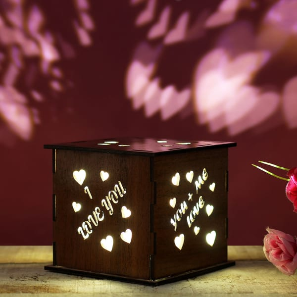 wooden lamp love quotes gift send home and living gifts