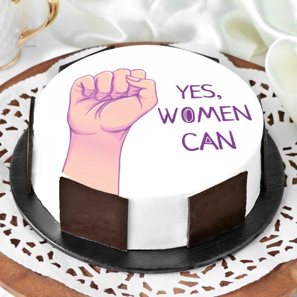 Yes Women Can Photo Cake (Half Kg)