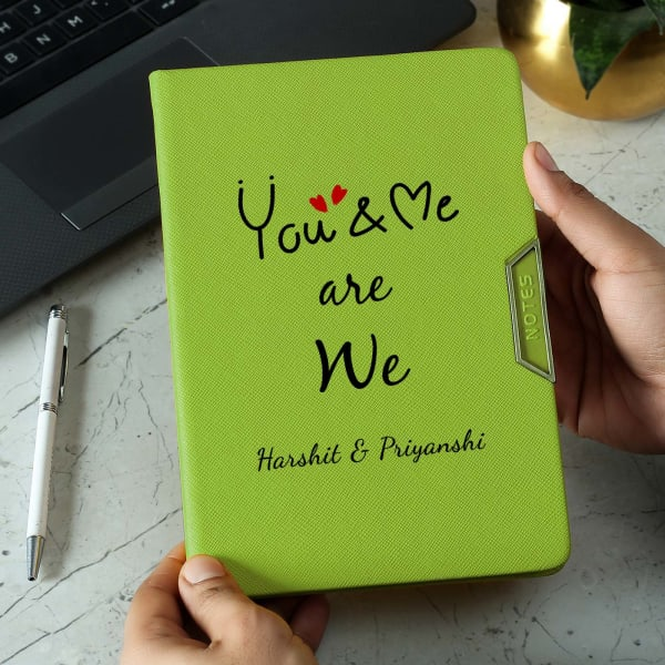 You & Me Romantic Personalized Diary