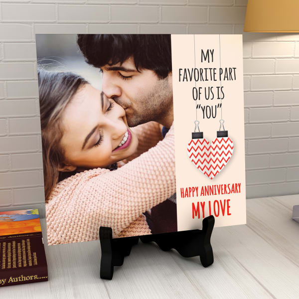 You're My Favorite Part of Us Personalized Anniversary Tile