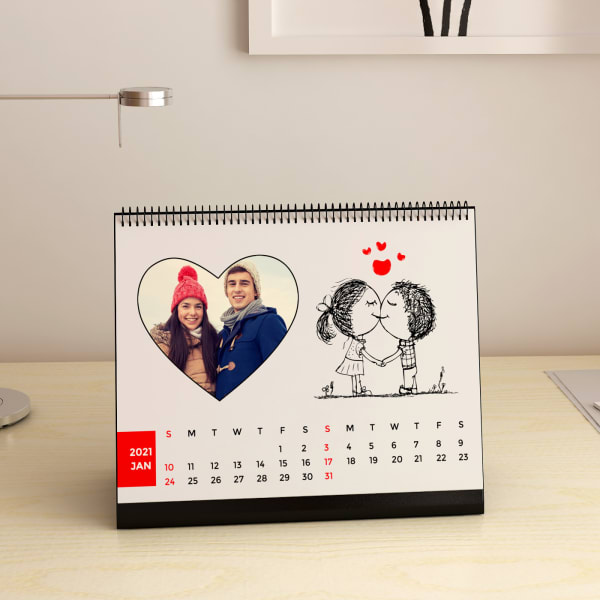 Young Love Personalized A5 Desk Calendar