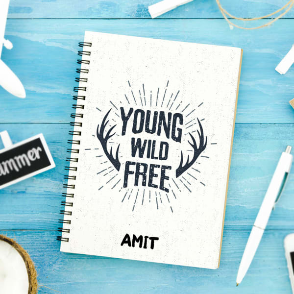 Young Wild & Free Personalized Notebook