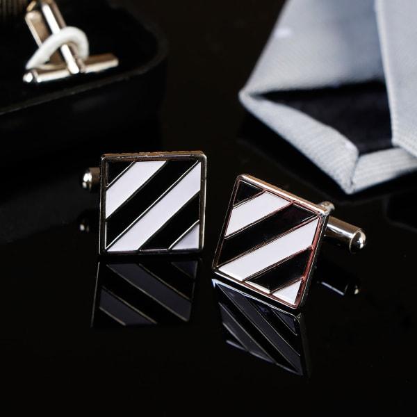 Zebra Stripe Square Men's Cufflinks