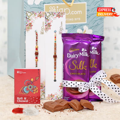 Rakhi Combo with Assorted Chocolate Bars