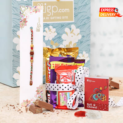 Rakhi Hamper with Chocolates