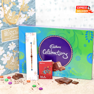 Rakhi with Celebration Chocolate Box