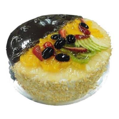 1 Kg Half Chocolate Half Fruit Cake