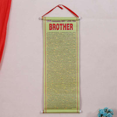 100 Reasons Why I love You Brother Quote Poster Scroll