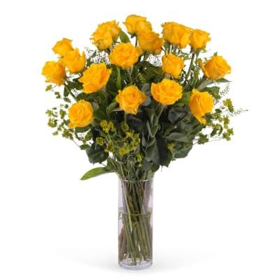 18 Long-stemmed Yellow Roses