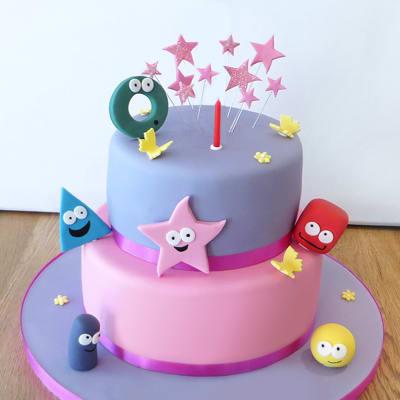 1st Birthday Shape Characters Cake (Eggless) (3.5 Kg)