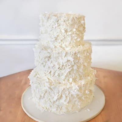 3 Tier Snowflake Cream Cake (6 Kg)