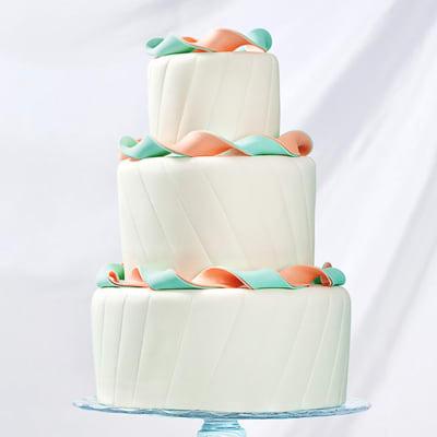 3 Tier Swirls Fondant Cake (10 Kg)