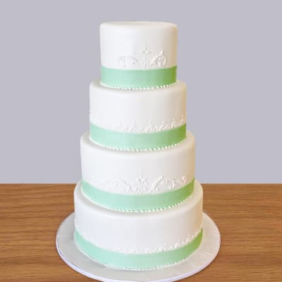 4 Tier Classic Fondant Cake (10 Kg)