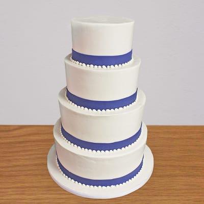 4 Tier Cream Cake (10 Kg)