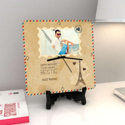 A Postcard From Paris Personalized Birthday Clock