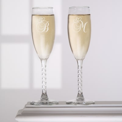 A Toast To Love Personalized Champagne Flute Set