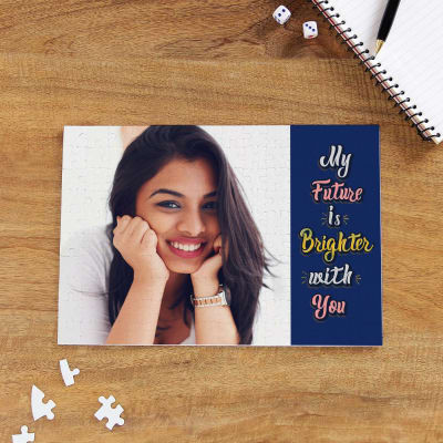 A4 Size Paper Puzzle Personalized With 1 Photo Made Of Hard Bord