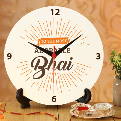 Adorable Bhai Clock with Roli Chawal