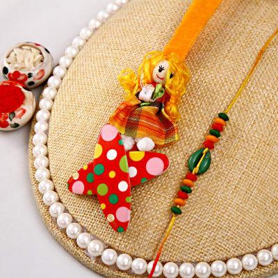 Adorable Bhaiya Bhabhi Rakhi Set With Tic Tac Pins
