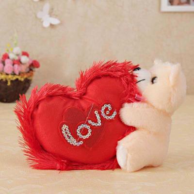 Adorable Heart Hugging Teddy Bear