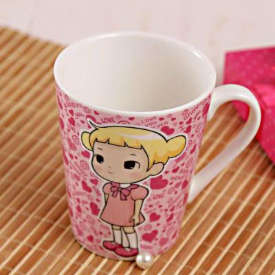 Adorable Pink Ceramic Mug