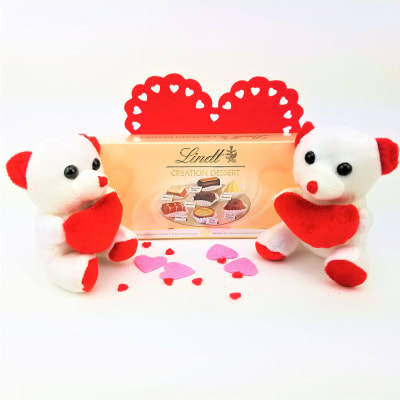 Adorable Teddies with Lindt Creation Dessert Chocolates