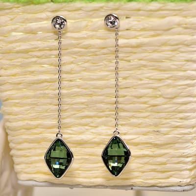 Alluring Crystal Drop Swarovski Earrings for Women