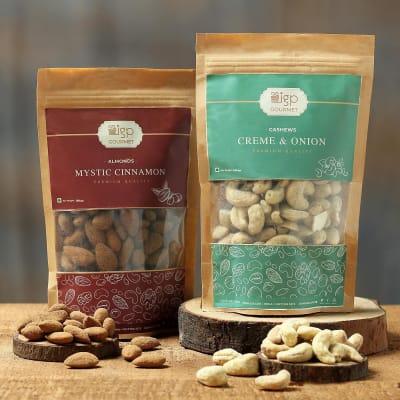 Almonds Mystic Cinnamon and Cashews Cream & Onion Combo