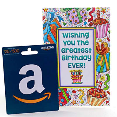 Amazon 25 Gift Card With Birthday Greeting