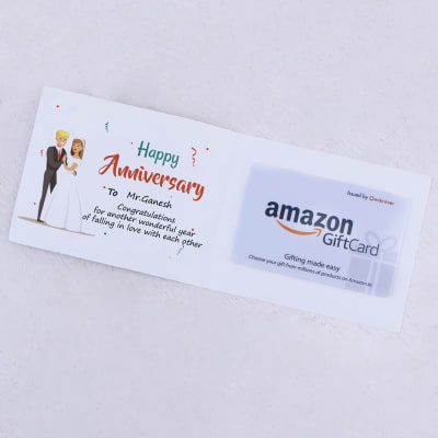 Amazon 500 INR Personalised Anniversary Gift Card