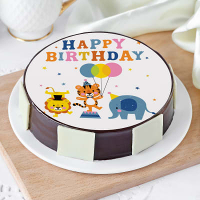 Admirable Order Animals Party Birthday Cake Half Kg Online At Best Price Birthday Cards Printable Trancafe Filternl