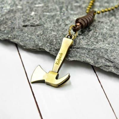 Antique Finish Personalized Hammer Pendant