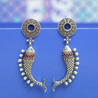 Antique Rajasthani Meenawork & Pearls Handmade Earrings