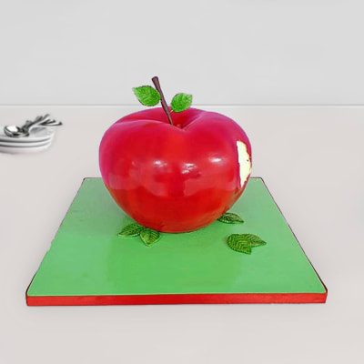 Order Apple Fondant Cake 2 5 Kg Online At Best Price Free Delivery Igp Cakes