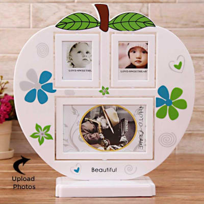 Apple-Shaped Personalized Collage Photo Frame