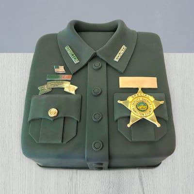 Army Star on Shirt Fondant Cake (4 Kg)