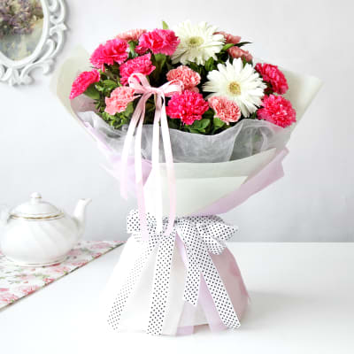Arrangement of Carnations & Gerberas