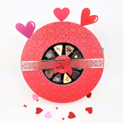 Assorted Belgian Heart Shaped Chocolates in Gift Box