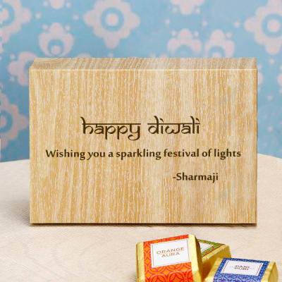Assorted Chocolate Box with Personalized Diwali Message
