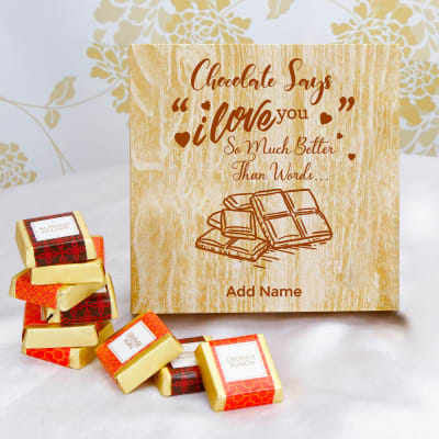 Assorted Chocolates in Personalized Wooden Box