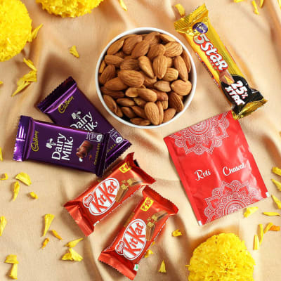 Assorted Chocolates with Almonds & Roli Chawal