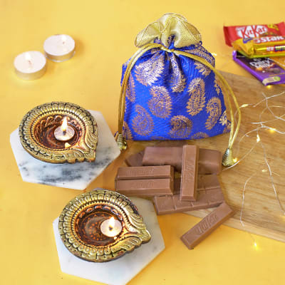 Assorted Chocolates with Clay Diyas