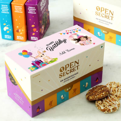 Assorted Cookies in Personalized Birthday Box