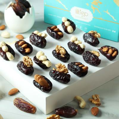 Assorted Gourmet Dry Fruit Dates (15 Pcs)