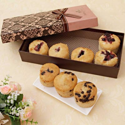 Snacks and gourmet baskets buy snacks and gourmet baskets online assorted sugarfree muffins in a gift box negle Choice Image
