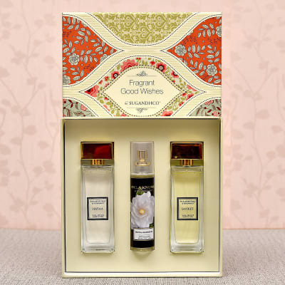 Attar Couple Gift Set of Two with Royal Gardenia Air Spray
