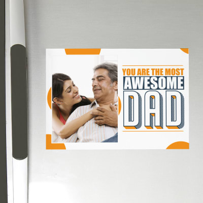 Awesome Dad Personalized Photo Magnet