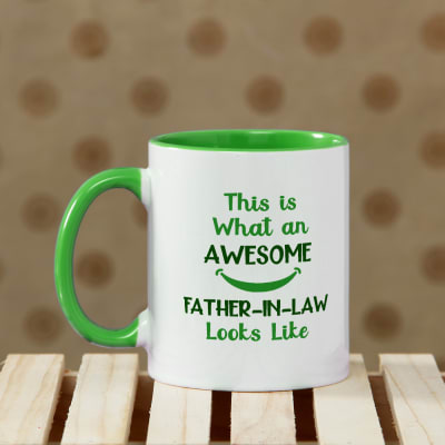 Awesome Father-In-Law Personalized Mug