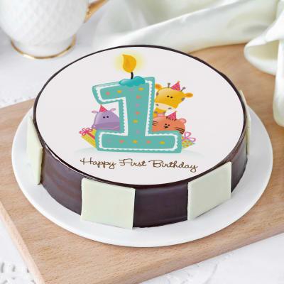 Baby Animals First Birthday Cake (Half Kg)